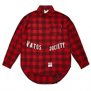 STIGMA MUSK OVERSIZED CHECK SHIRTS RED