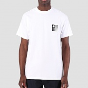 (I026409) STATE PATCH T-SHIRT-WHITE