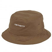 (I026217) SCRIPT BUCKET HAT-HAMILTON BROWN/WHITE