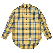 STIGMA HALLUCINATION OVERSIZED CHECK SHIRTS YELLOW