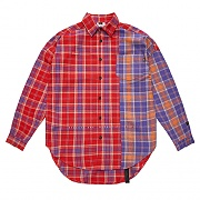STIGMA STREET HALF OVERSIZED CHECK SHIRTS RED