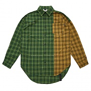 STIGMA FEEL GOOD HALF OVERSIZED CHECK SHIRTS GREEN