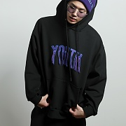 youth embroidered hoodie[black]