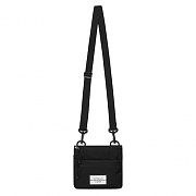 [ISVA03] DOUBLE ZIPPER BAG IS [BLACK]