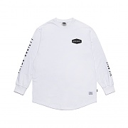 STIGMA EMBLEM LAYERED LONG SLEEVES T-SHIRTS WHITE