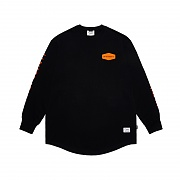 STIGMA EMBLEM LAYERED LONG SLEEVES T-SHIRTS BLACK