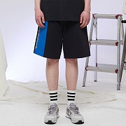 REFLECT COLOR BLOCK HALF PANTS (BLACK)