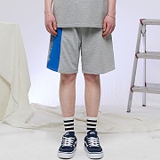 REFLECT COLOR BLOCK HALF PANTS (GRAY)