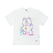 STIGMA BEAR GANG OVERSIZED T-SHIRTS WHITE