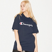 (GT23H) SCRIPT GRAPHIC JERSEY TEE-NVY
