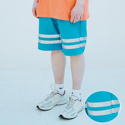 UNISEX SCOTH TAPE HALF PANTS BLUE