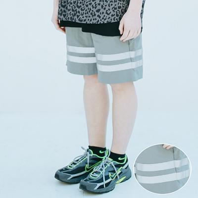 UNISEX SCOTH TAPE HALF PANTS GREY