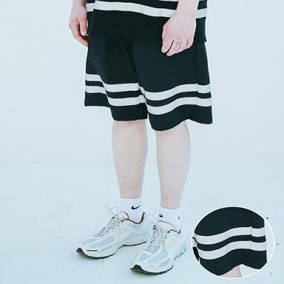 UNISEX SCOTH TAPE HALF PANTS BLACK