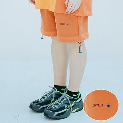 UNISEX ELECTRIC TRACK HALF PANTS ORANGE
