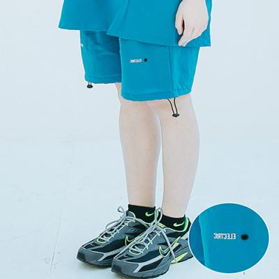 UNISEX ELECTRIC TRACK HALF PANTS BLUE