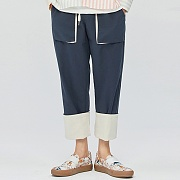 Fisher-man Rollup Easy Pants-navy