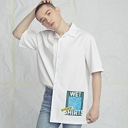 WET PAJAMA SHIRT WHITE