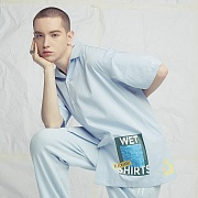 WET PAJAMA SHIRT SKYBLUE