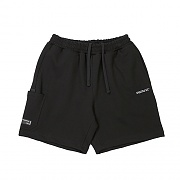 SIDE POCKET SWEAT SHORT BLACK