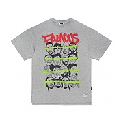 STIGMA FAMOUS OVERSIZED T-SHIRTS GREY