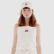 CHERRY SLEEVELESS IH [WHITE]