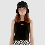 CHERRY SLEEVELESS IH [BLACK]