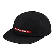 RAISED LOGO 6-PANEL-BLACK