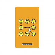 Smile face battery-orange
