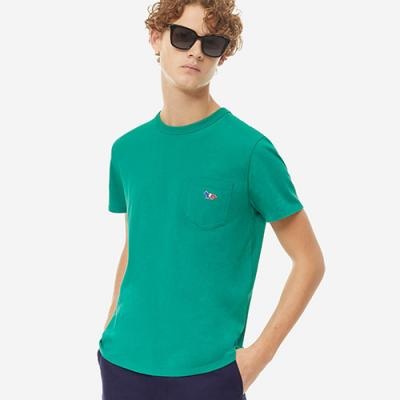 TRICOLOR FOX PATCH TEE-GREEN