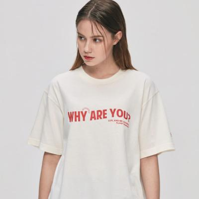 [UNISEX] why are you 반팔티 (아이보리)