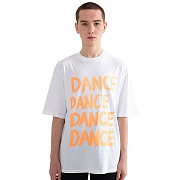 """DANCE"" Over fit T-Shirt White"