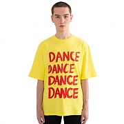 """DANCE"" Over fit T-Shirt Yellow"