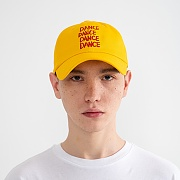 """DANCE"" Embroidered Ball Cap Yellow"
