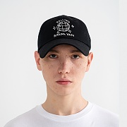 """MIRROR BALL"" Embroidered Ball Cap Black"