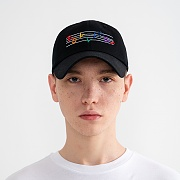 """RAINBOW MUSIC NOTE"" Embroidered Ball Cap Black"
