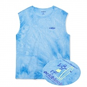 TIE DYE CUTTED SLEEVELESS (BLUE)