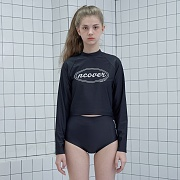 Original crop rash guard set-black