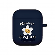 Flower graphic-navy(airpods jelly case)