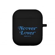 Heart point-black(airpods jelly case)