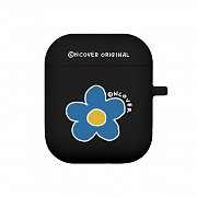 Flower point-black(airpods jelly case)
