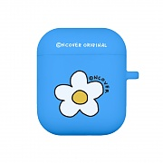 Flower point-blue(airpods jelly case)