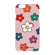 Big flower dot case-pink