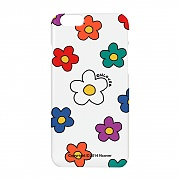 Big flower dot case-white