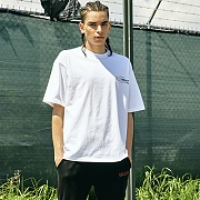 [COVERMENT]Basic Logo Graphic Print Over-Fit T-Shirts_White