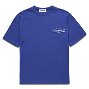 [COVERMENT]Basic Logo Graphic Print Over-Fit T-Shirts_Royal Blue