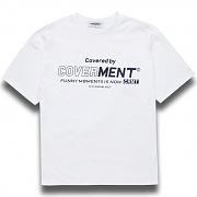 [COVERMENT]Big Logo Graphic Print T-Shirts_White