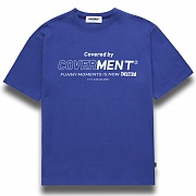 [COVERMENT]Big Logo Graphic Print T-Shirts_Royal Blue