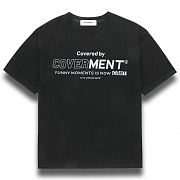 [COVERMENT]Big Logo Graphic Print T-Shirts_Black
