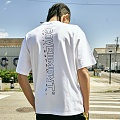 [COVERMENT]Vertical Big Logo Graphic Print T-Shirts_White