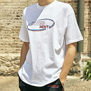 [COVERMENT]Classic Round Logo Print Over-Fit T-Shirts